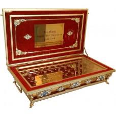 Ковчег для частиц святых мощей на 50 мощевиков с табличками